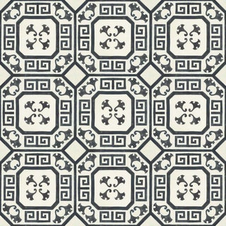 Celerie Kemble Gingko Ink Hardwood Tile - 1 Box, 14 Tiles For Sale