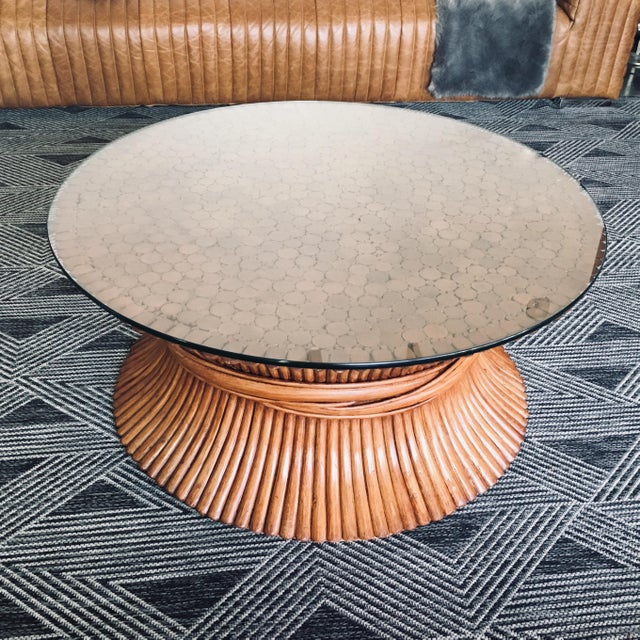 1950s McGuire Sheaf of Wheat Bamboo Coffee Table For Sale - Image 5 of 5