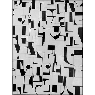 "Abstract Black & White Acrylic Collage ""Pdp530ct11"" by Cecil Touchon For Sale"
