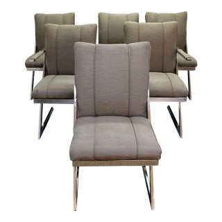 Mid-Century Modern Milo Baughman for Dia Z-Bar Cantilever Dining Chairs - Set of 6