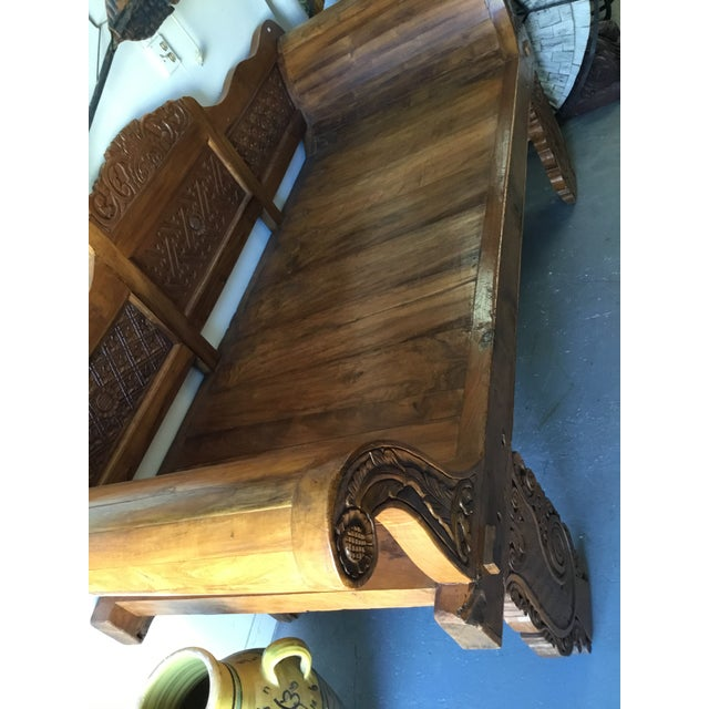 Balinese Teak Day Bench For Sale - Image 4 of 6