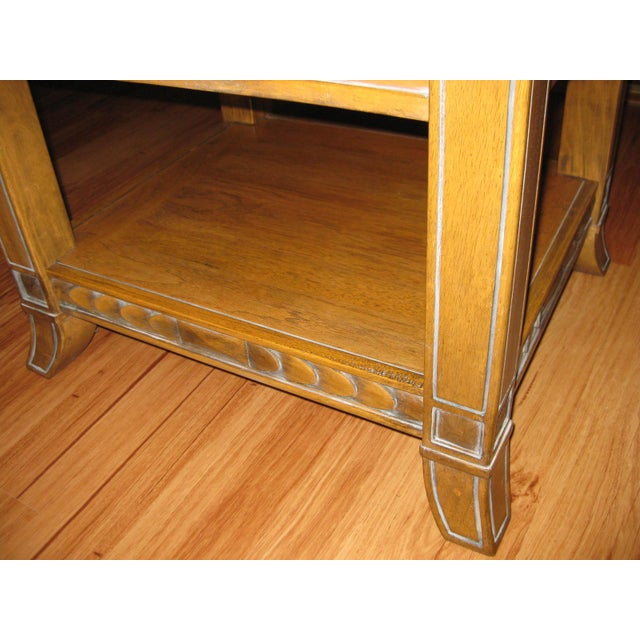 Vintage Rustic Style End Table For Sale - Image 5 of 10