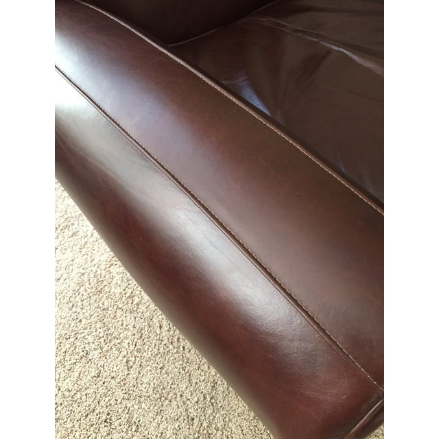 Pottery Barn Manhattan Leather Recliner - Image 6 of 8