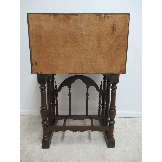 Antique Spanish Renaissance Drop Front Gothic Writing Desk For Sale - Image 12 of 13
