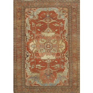 Pasargad Ny Antique Serapi Wool Rug - 10' X 14' For Sale