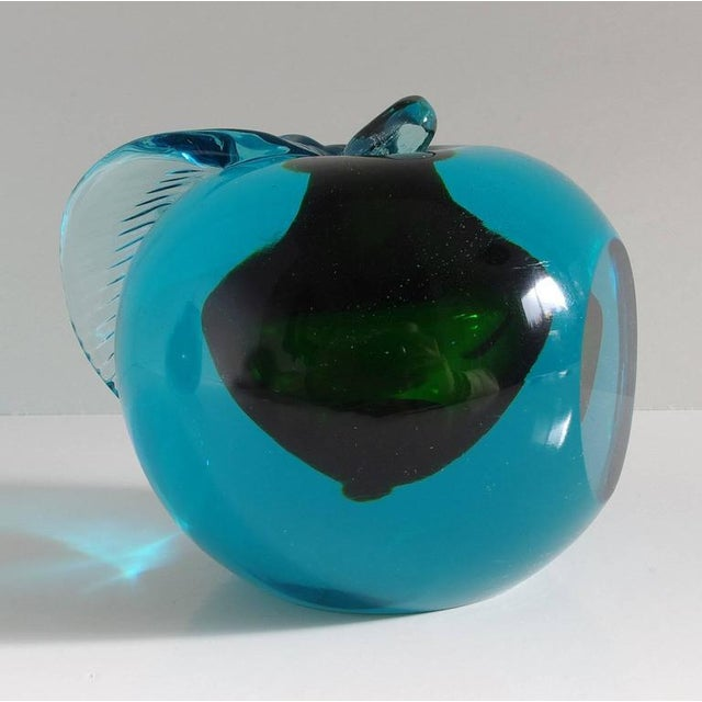 Pair of Italian Murano Apple and Pear Glass Book Ends For Sale In Palm Springs - Image 6 of 9