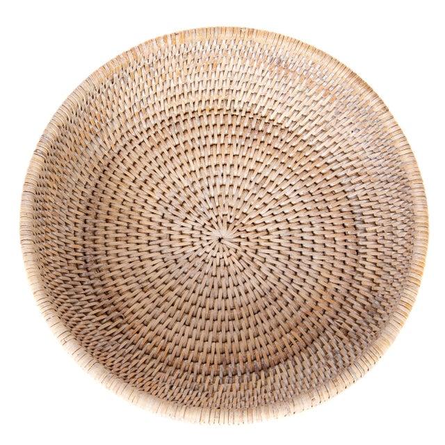 Boho Chic Artifatcs Rattan Bowl For Sale - Image 3 of 6