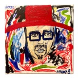 """Image of Abstract Hat Face Painting by Ebony Boyd, """"Sammy Picasso"""" For Sale"""