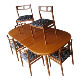 Mid-Century Teak Dining Set - 7 Pieces For Sale