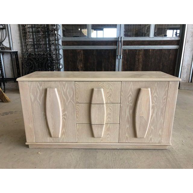 Modern Cerused Oak Credenza For Sale - Image 9 of 9