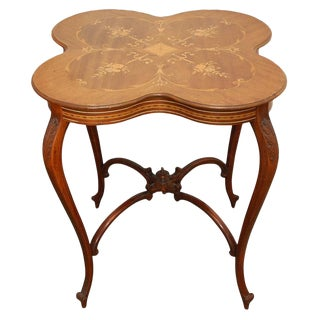 American Classical Horner Marquetry Table For Sale