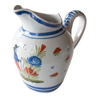 French Quimper Pitcher