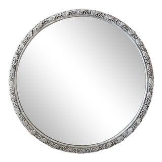 Art Deco-Style Round Mirror For Sale