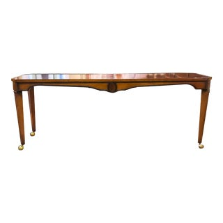 Mid Century Burl Wood Console Table