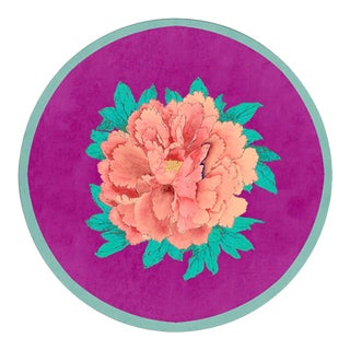 Italian Salina Peonie Round Placemat For Sale