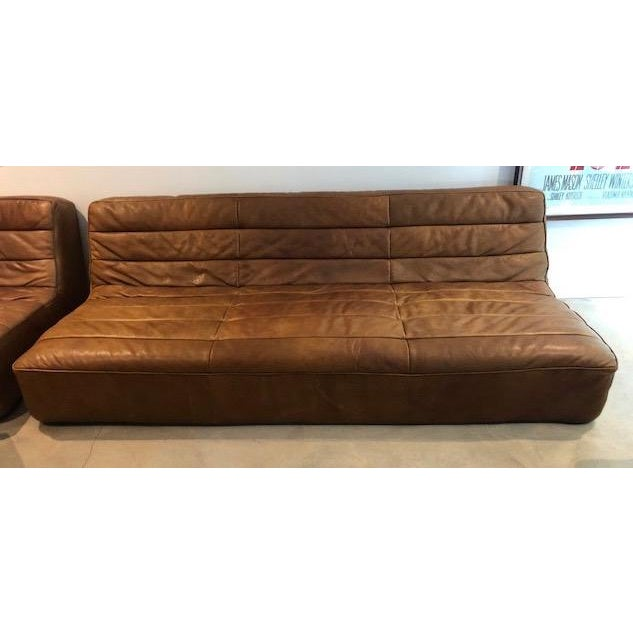 Restoration Hardware Kona Leather Chelsea Sectional Sofa ...