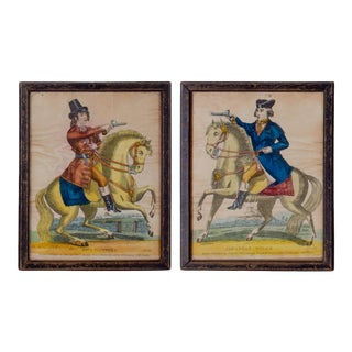 19th Century Paul Clifford & Jonathan Wilde Redington Tinsel Prints, Framed - a Pair For Sale