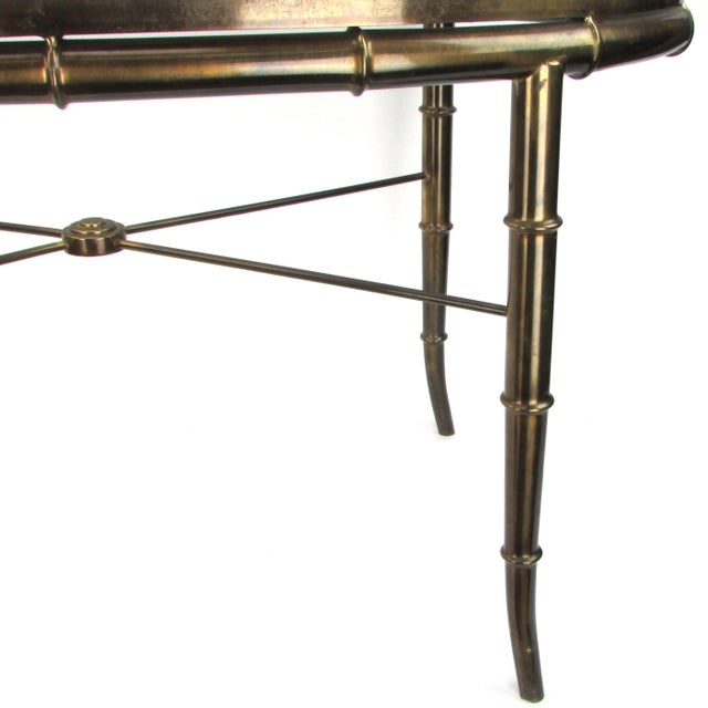 Mastercraft Brass Bamboo-Style Table - Image 4 of 4