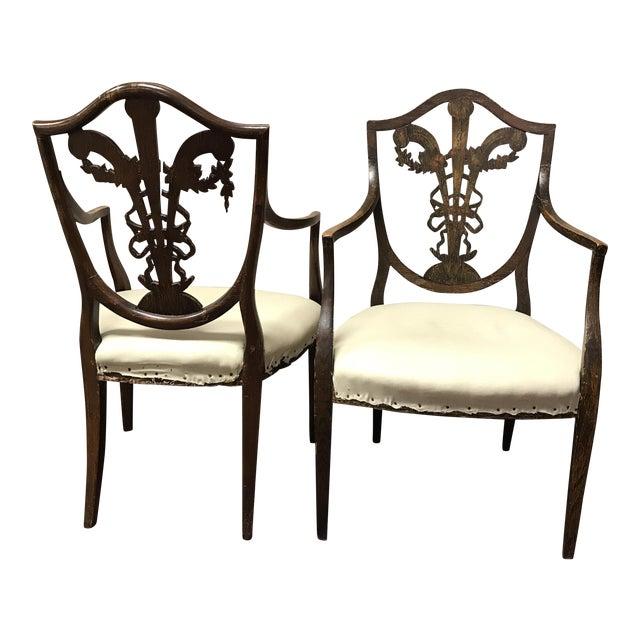 C. 1795 English Hepplewhite Chairs - A Pair - Image 1 of 10
