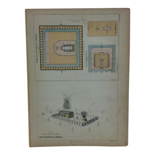 "1890 Antique ""Arrangement and Form of the Tabernacle Camp"" & ""Solomon's Temple"" Plans Diagram Map by William Collins Sons For Sale"