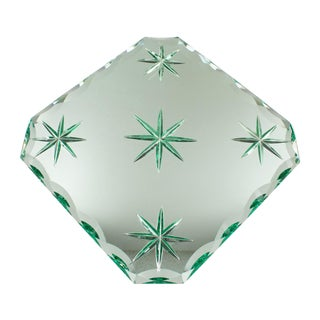 Jean Luce 1930s Mirrored Glass Tray Platter For Sale