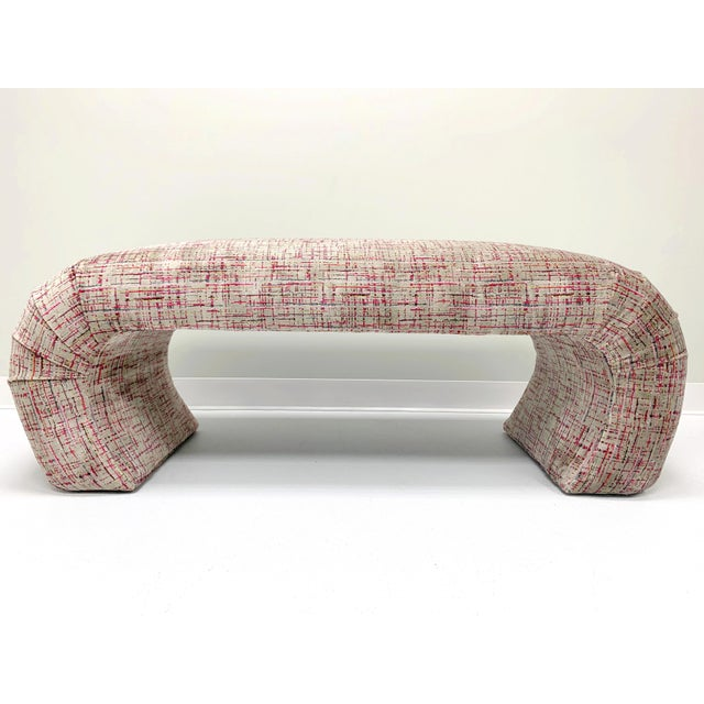 Italian 1970s Waterfall Bench in the Manner of Karl Springer For Sale - Image 3 of 7
