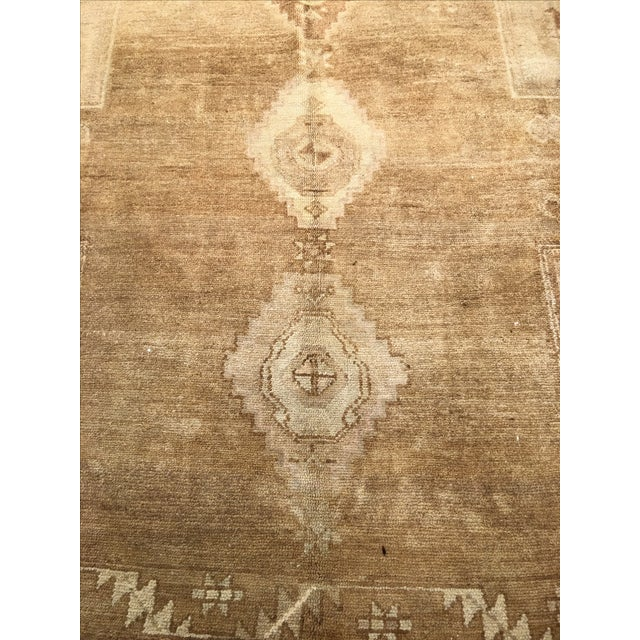 "Vintage Turkish Oushak Rug - 7'3"" x 11'4"". - Image 4 of 8"