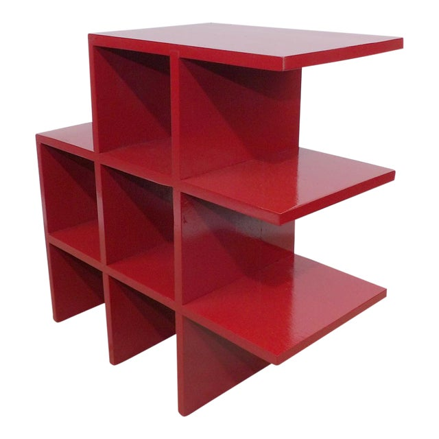 Red Wood Tabletop/Hanging Shelf For Sale
