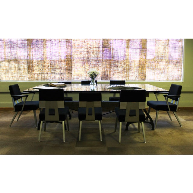 Industrial Cast Iron & Wood Brake Conference Table For Sale - Image 10 of 11