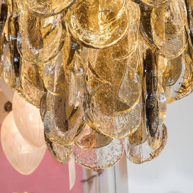Murano Glass Chandelier Designed by J.T. Kalmar of Austria, Fabricated by Seguso For Sale In New York - Image 6 of 9