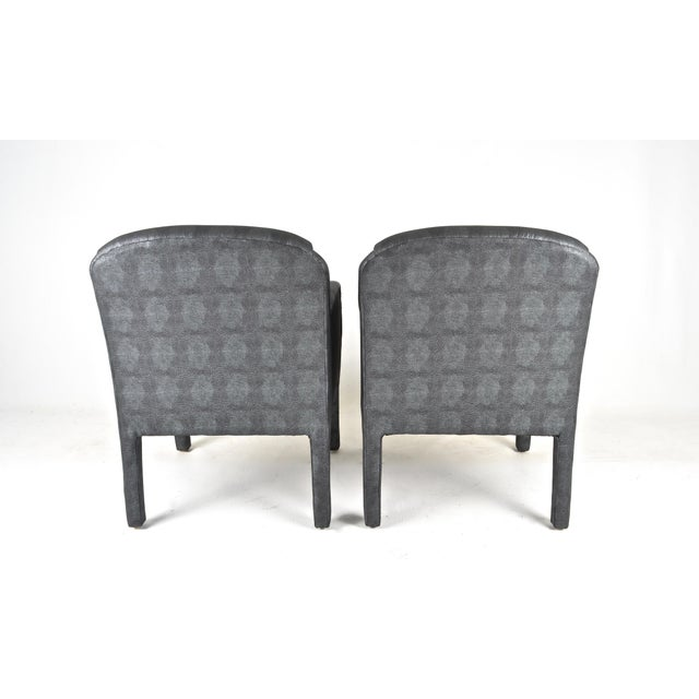 1980s Pair of 1980s Armchairs in Metallic Faux Shagreen For Sale - Image 5 of 10