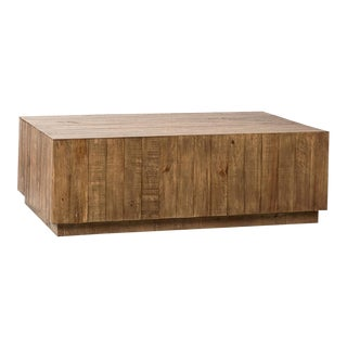 Salvaged Pine Modern Coffee Table For Sale