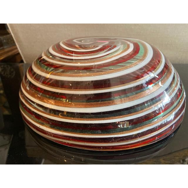1960s Murano Candy Cane Stripe Bowl For Sale - Image 10 of 12