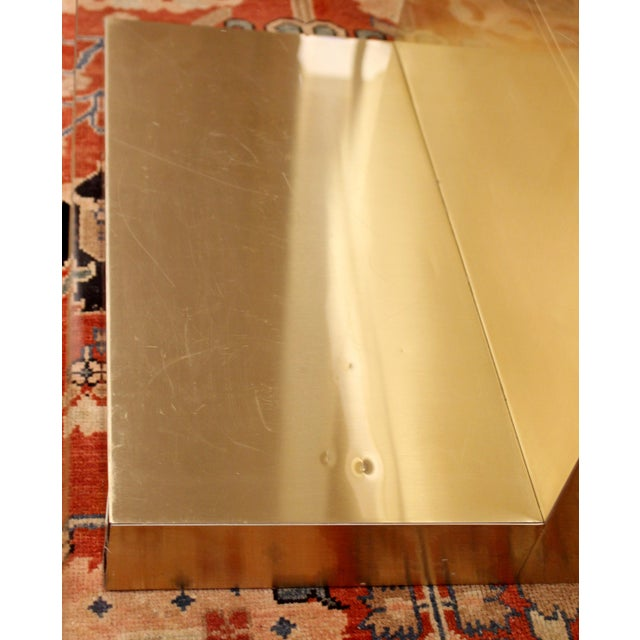Mid-Century Modern Paul Evans Cantilever Brass Glass Cityscape Coffee Table For Sale - Image 11 of 12