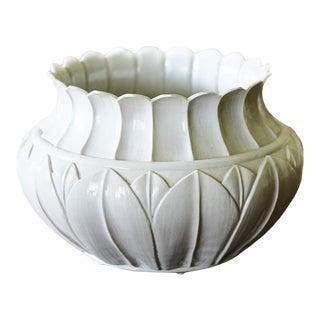 White Ceramic Tulip Planter For Sale