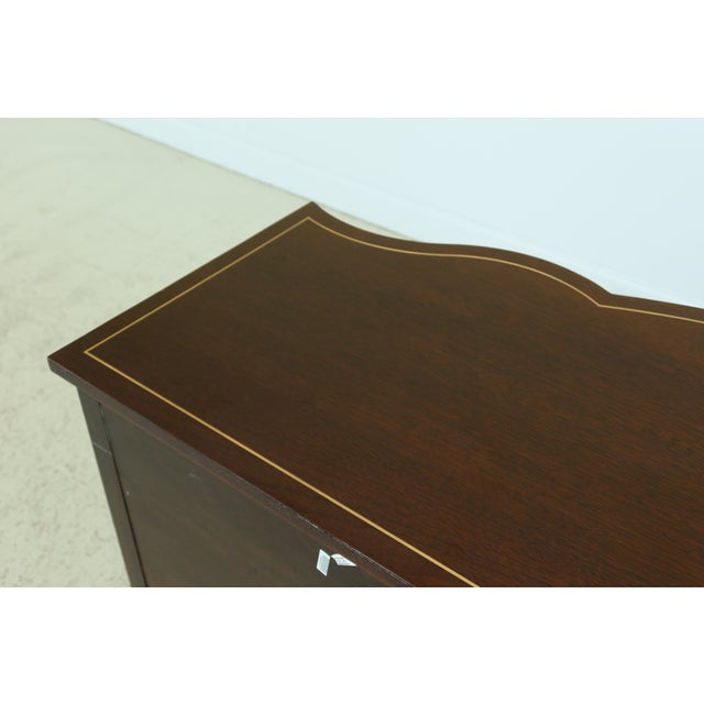 Brown Stickley Federal Style Inlaid Mahogany Sideboard For Sale - Image 8 of 13