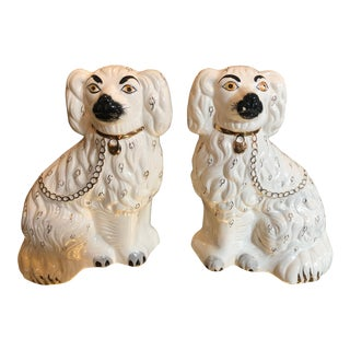 1920s Antique Beswick England Staffordshire Dogs - a Pair For Sale