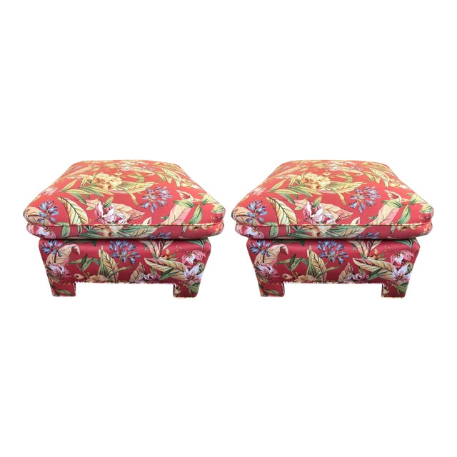 Marge Carson Ottomans - A Pair - Image 1 of 12