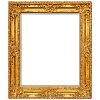 Antique French Louis XV Carved and Gilt Frame For Sale