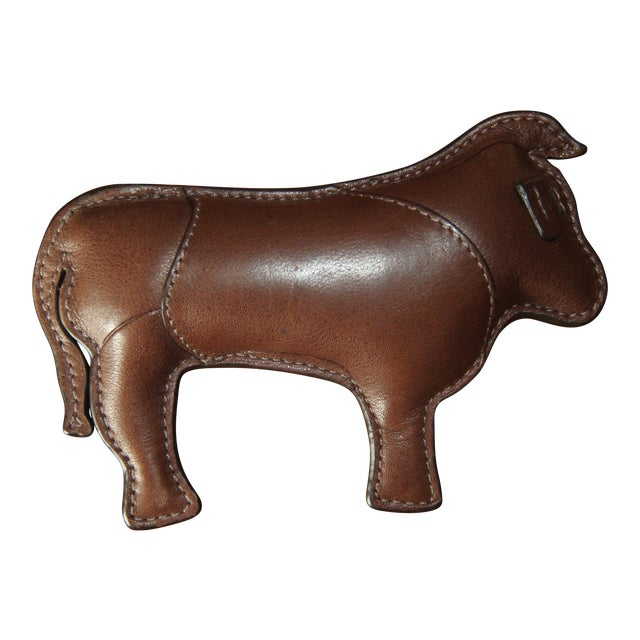 Coach Signature Leather-Embossed Paperweight (Year of the Ox) For Sale