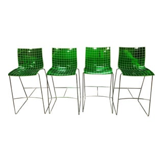 Vintage Marco Maran for Knoll Bar Stools - Set of 4 For Sale