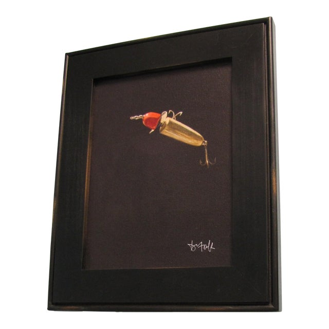 David Tuck Red Lure Signed Print For Sale