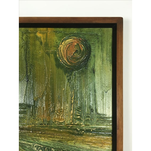 Modernist 1960's Architectural Abstract Painting - Image 6 of 6
