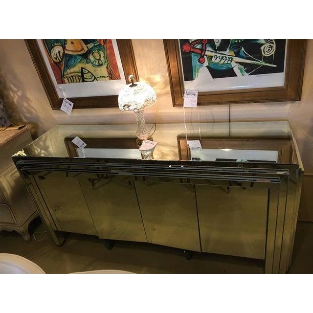 Hollywood Regency 4-Door Mirrored Side Board or Dresser - Image 2 of 8