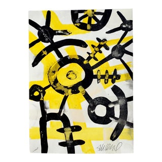 """Bumblebee, Acrylic on Paper 9x12"""" For Sale"""