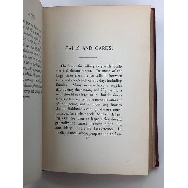 Antique Victorian Etiquette Book for Men For Sale - Image 10 of 13