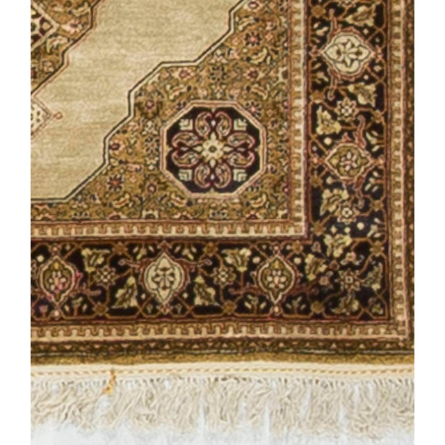 Antique Persian Silk Quom Circa 1900. Quom rugs are made in the Quom Province of Iran, around 60 south of Tehran. Although...