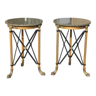 1920s French Neoclassical Bronze Side Tables-a Pair For Sale