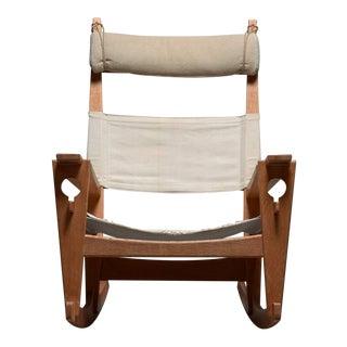 Keyhole Rocking Chair by Hans Wegner