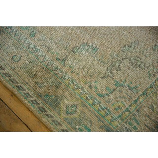 "Vintage Distressed Oushak Carpet - 5'8"" X 8'3"" For Sale - Image 10 of 12"